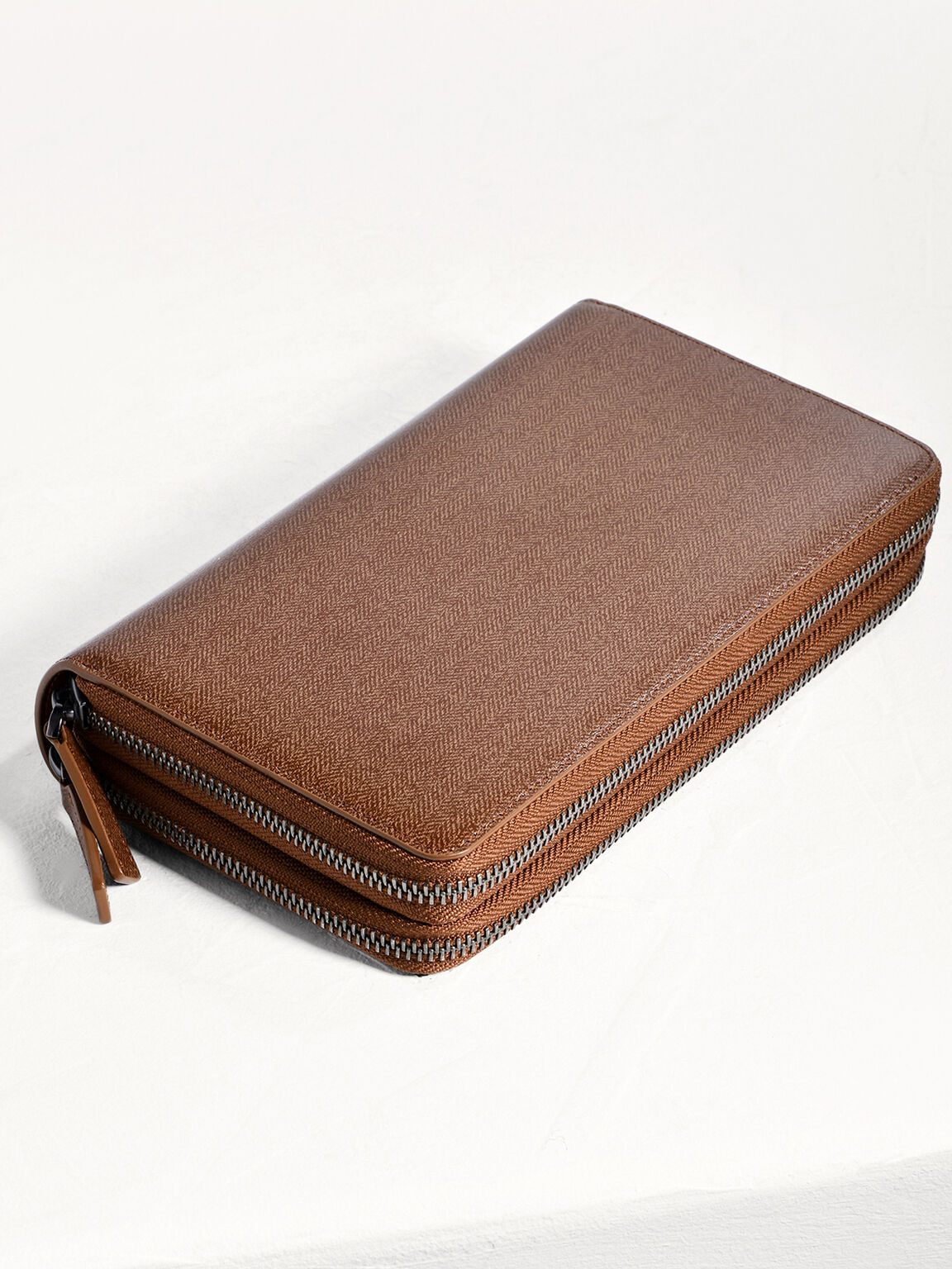 Leather Travel Organizer, Light Brown, hi-res