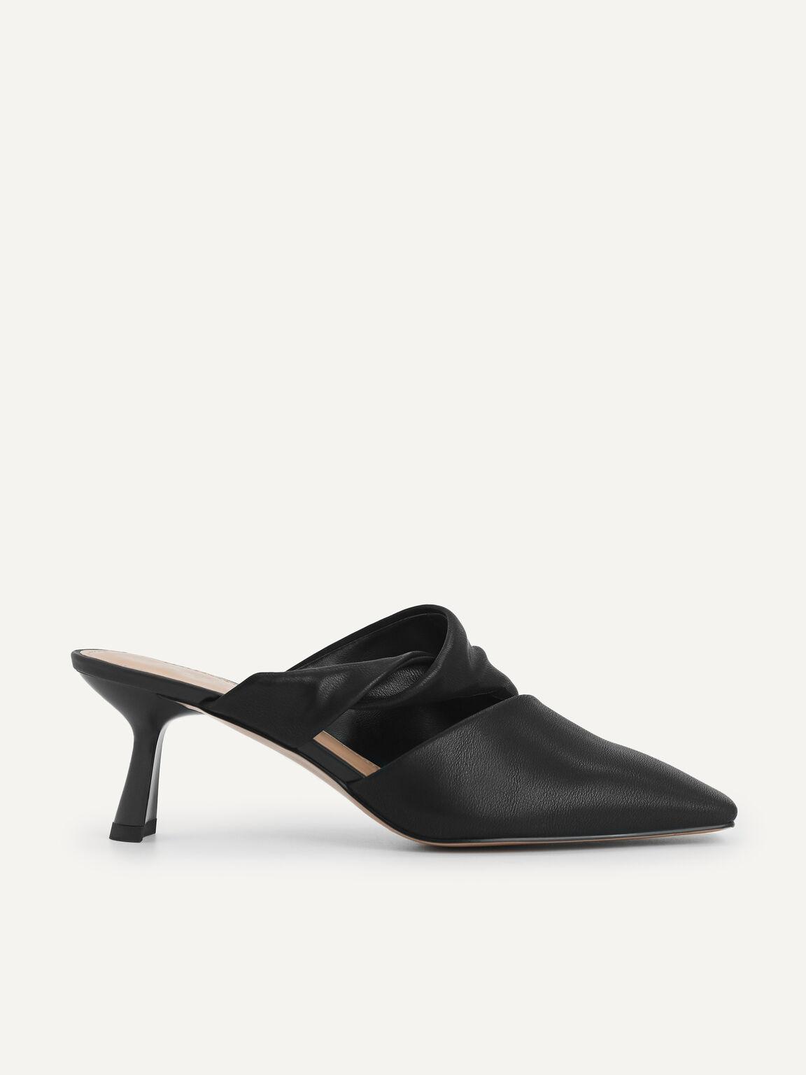 Square-Toe Heels, Black, hi-res