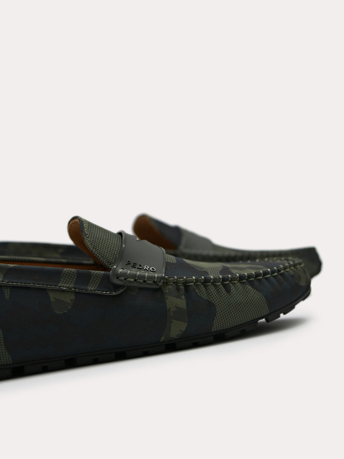 Camouflaged Printed Penny Moccasins, Multi, hi-res