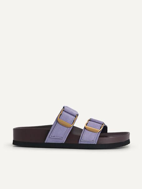 Double Strap Sandals, Violet, hi-res