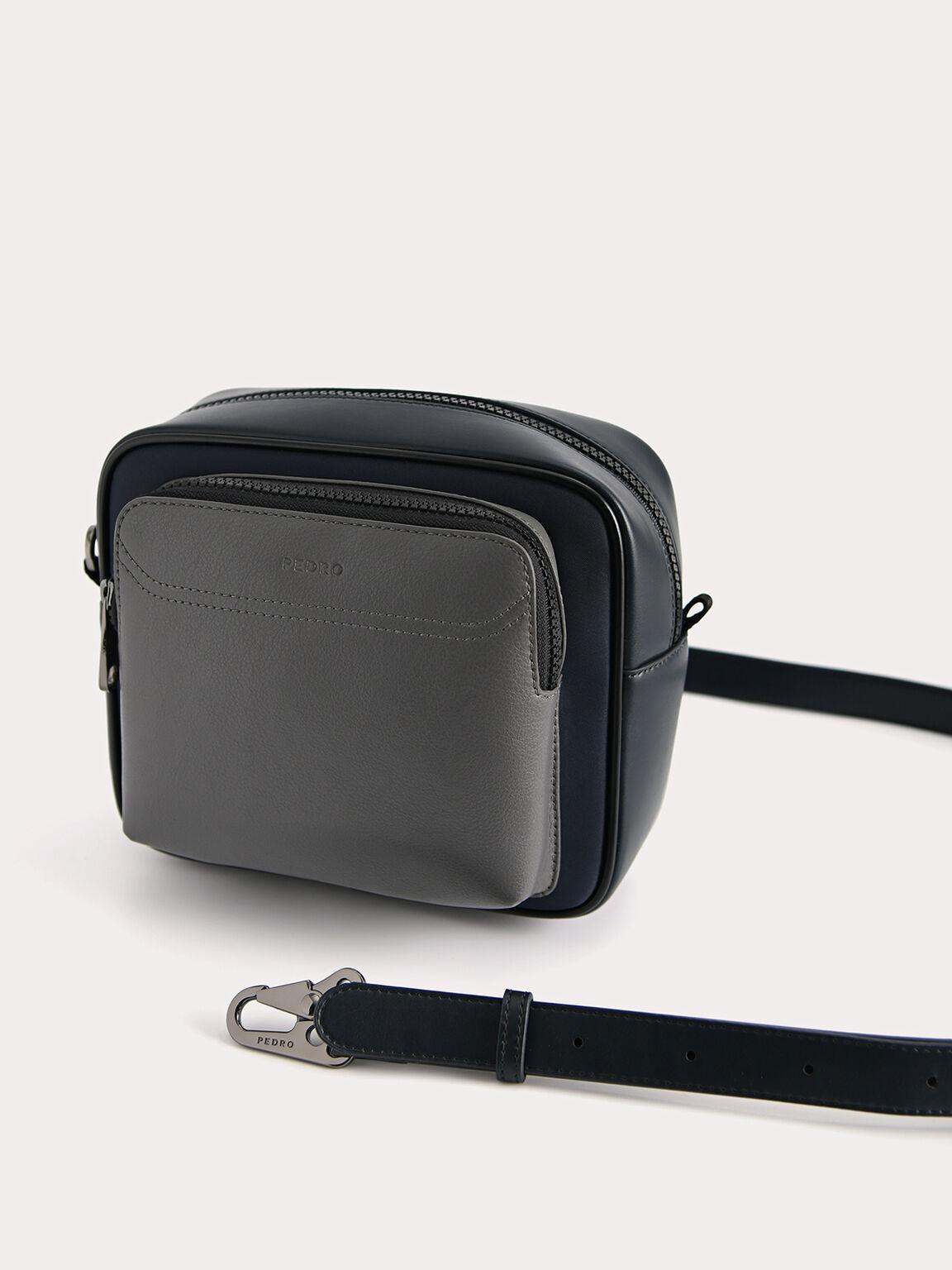 Two-Tone Sling Bag, Navy, hi-res