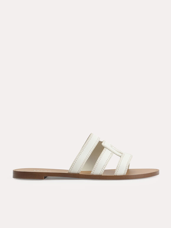 Abstract Casual Sandals, Chalk, hi-res