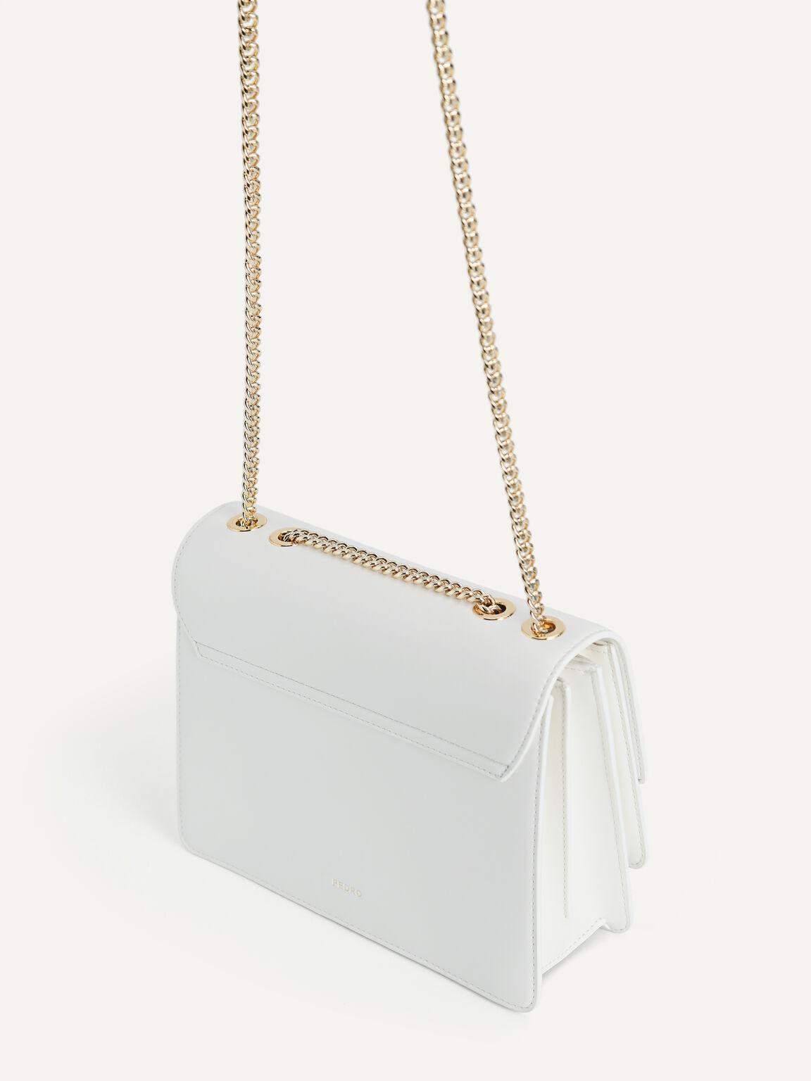 Tiered Shoulder Bag, Chalk, hi-res