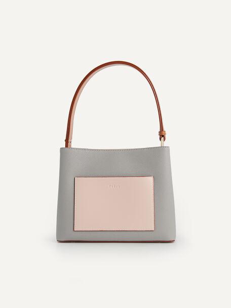Duo-Carry Bucket Bag, Grey, hi-res