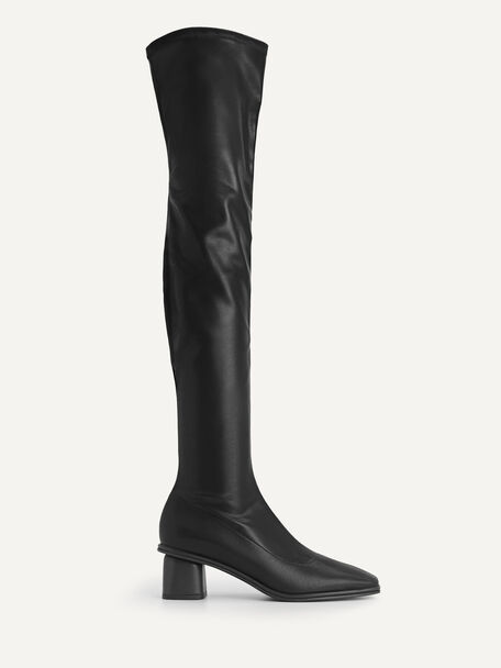 Over-the-knee Boots, Black, hi-res