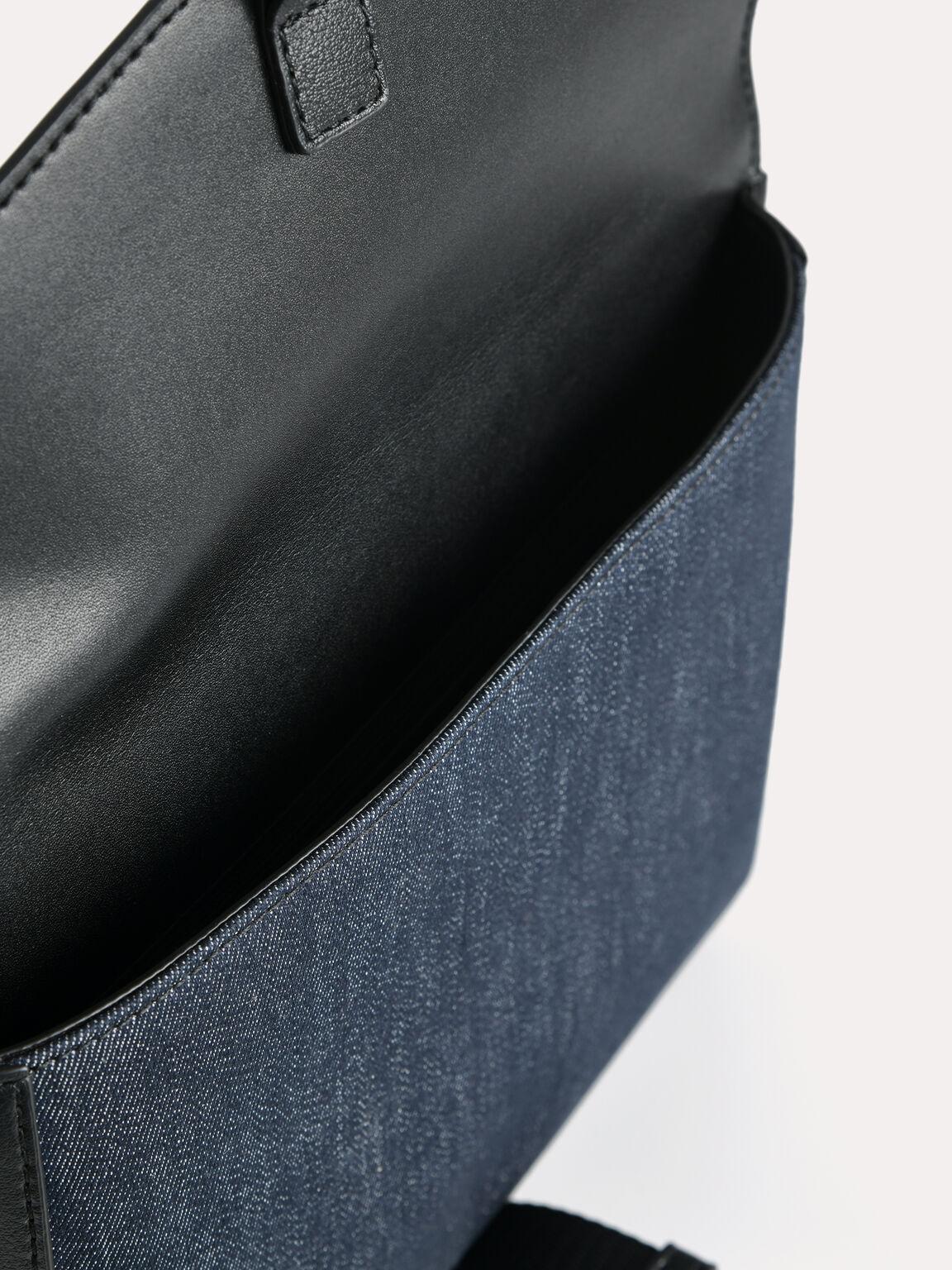 信封單肩包, 黑色, hi-res