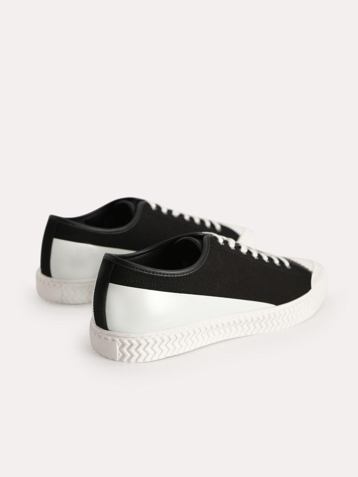rePEDRO Organic Cotton Lace-up Sneaker, Black, hi-res