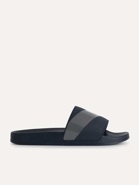 Casual Slides, Navy, hi-res