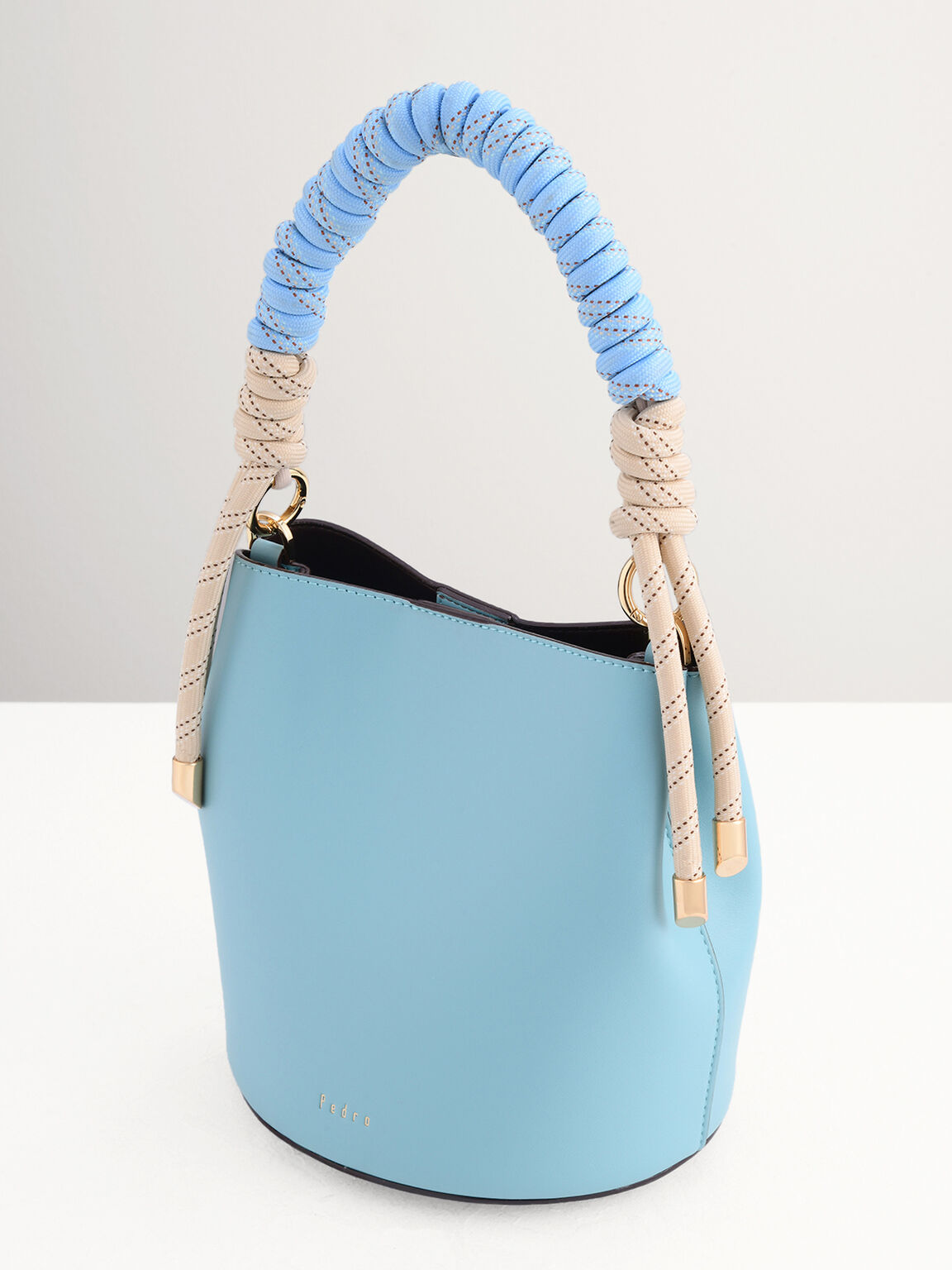 Bucket Bag with Rope Detailing, Turquoise, hi-res
