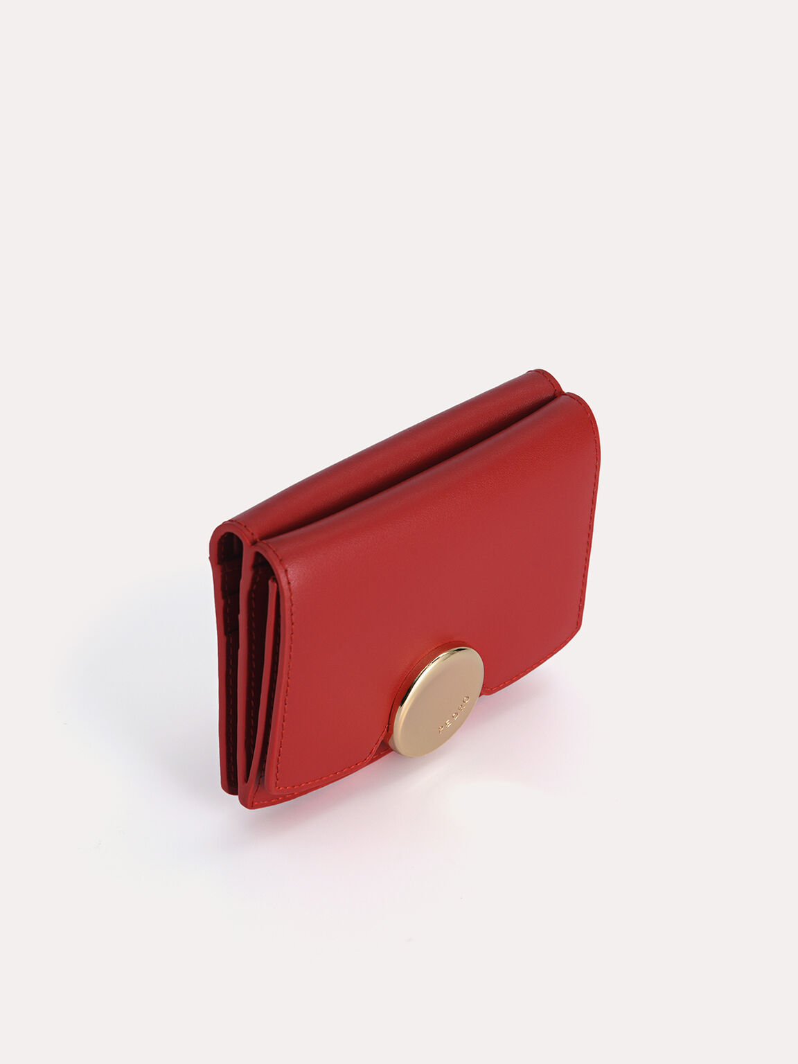 Leather Bi-Fold Wallet, Red, hi-res