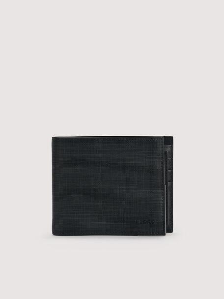 Leather Bi-Fold with Insert, Black, hi-res