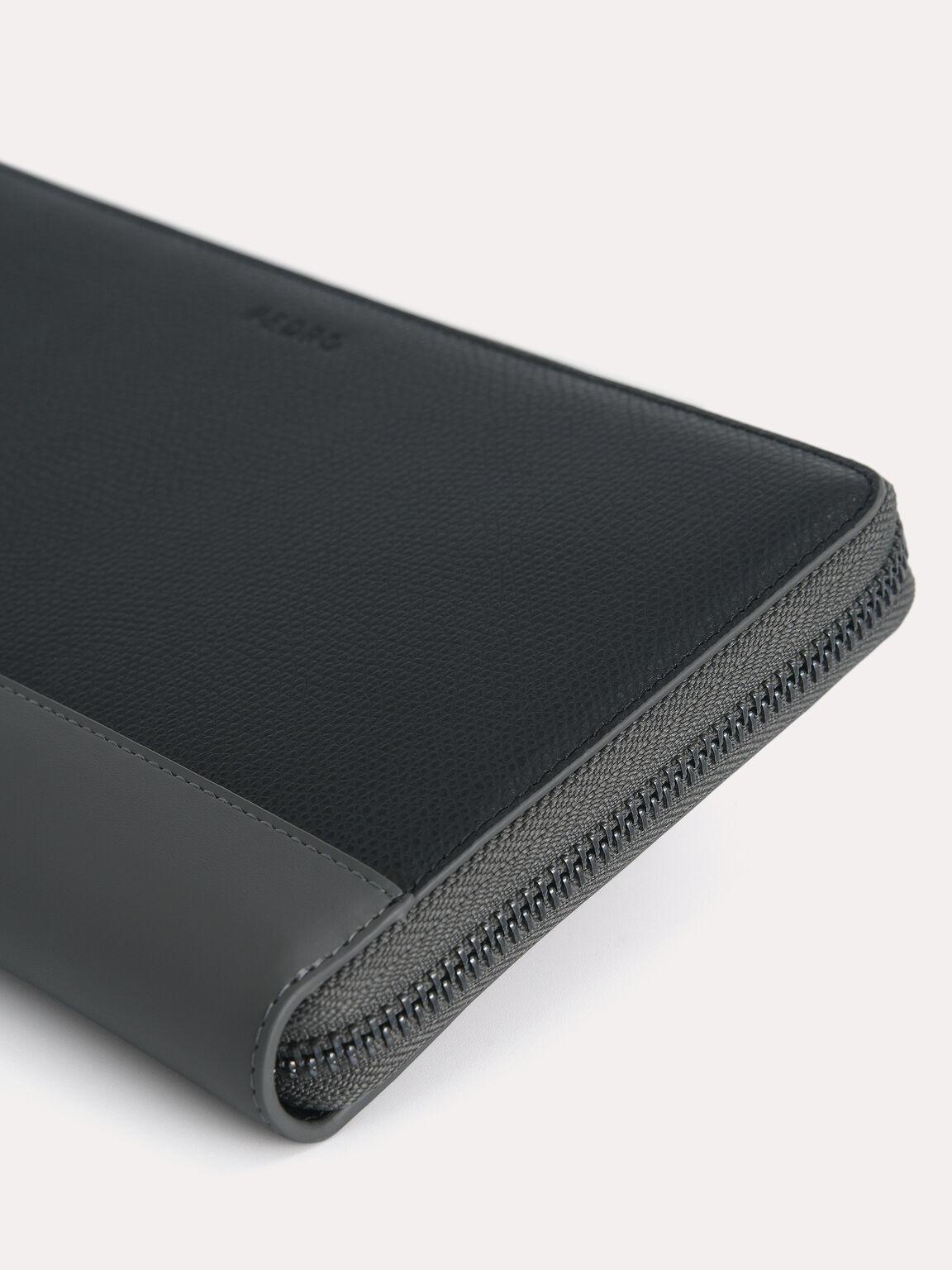 Textured Leather Travel Organiser, Black, hi-res