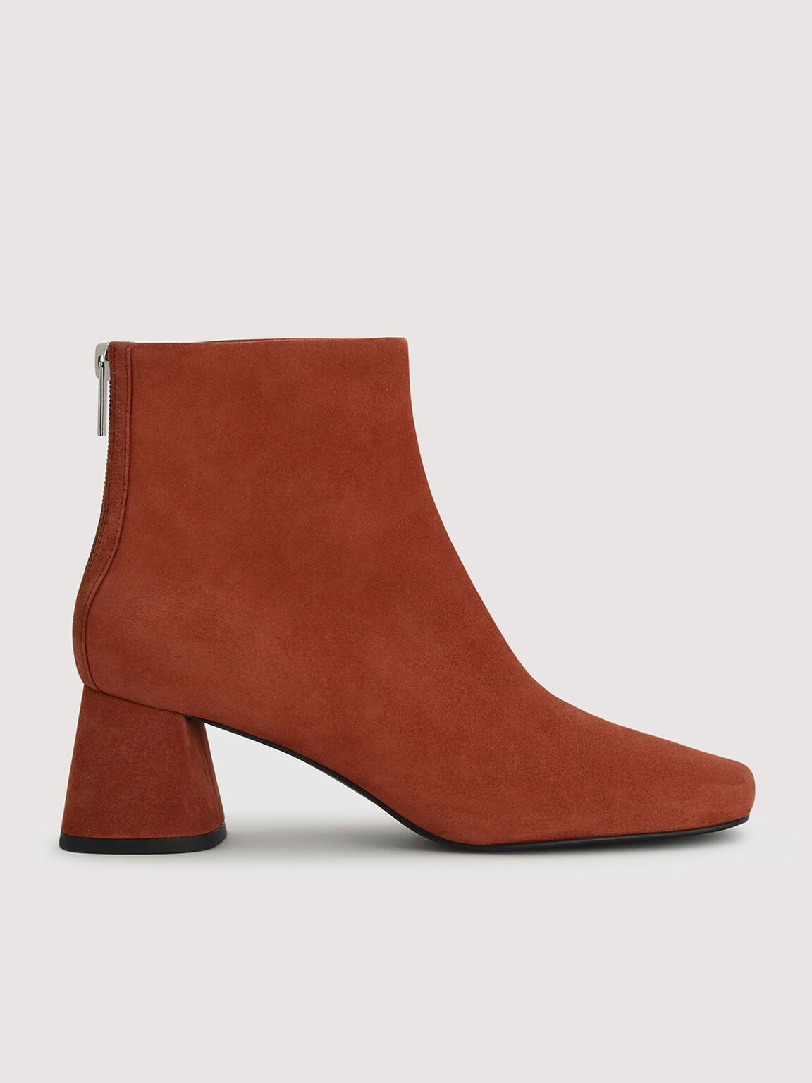 Suede Ankle Boots, Brick, hi-res