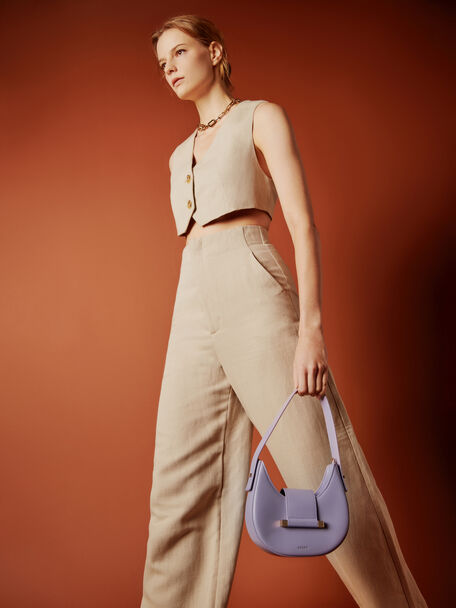 Crescent Shoulder Bag, Violet, hi-res