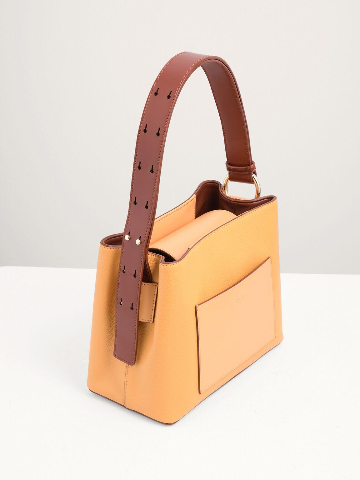 Duo-Carry Top Handle Bag, Yellow, hi-res