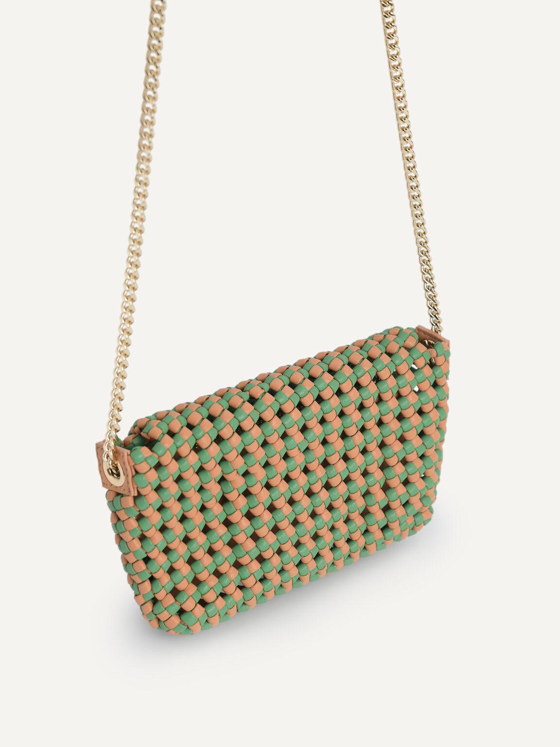 Woven Shoulder Bag, Multi, hi-res