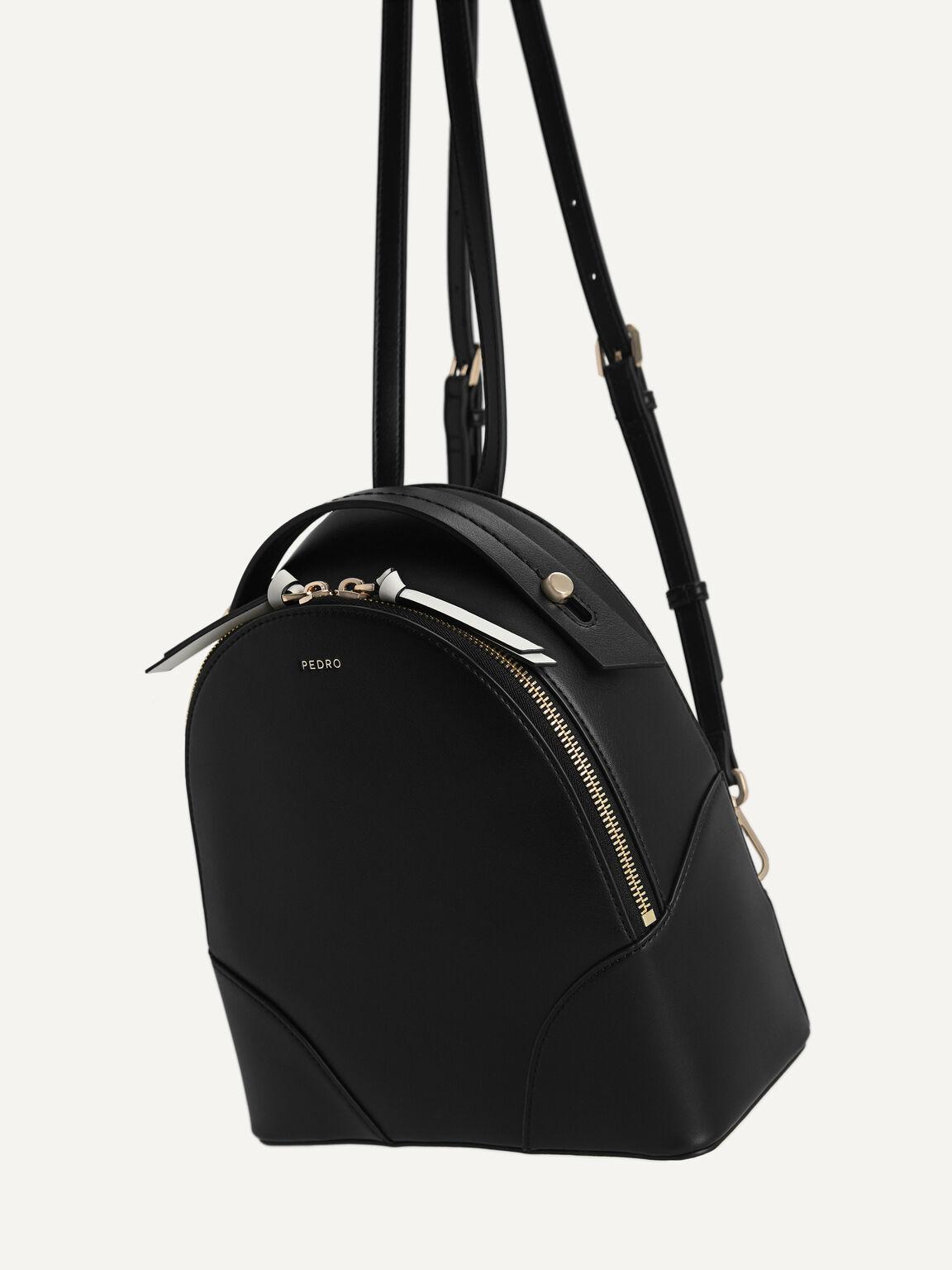 Curved Backpack, Black, hi-res