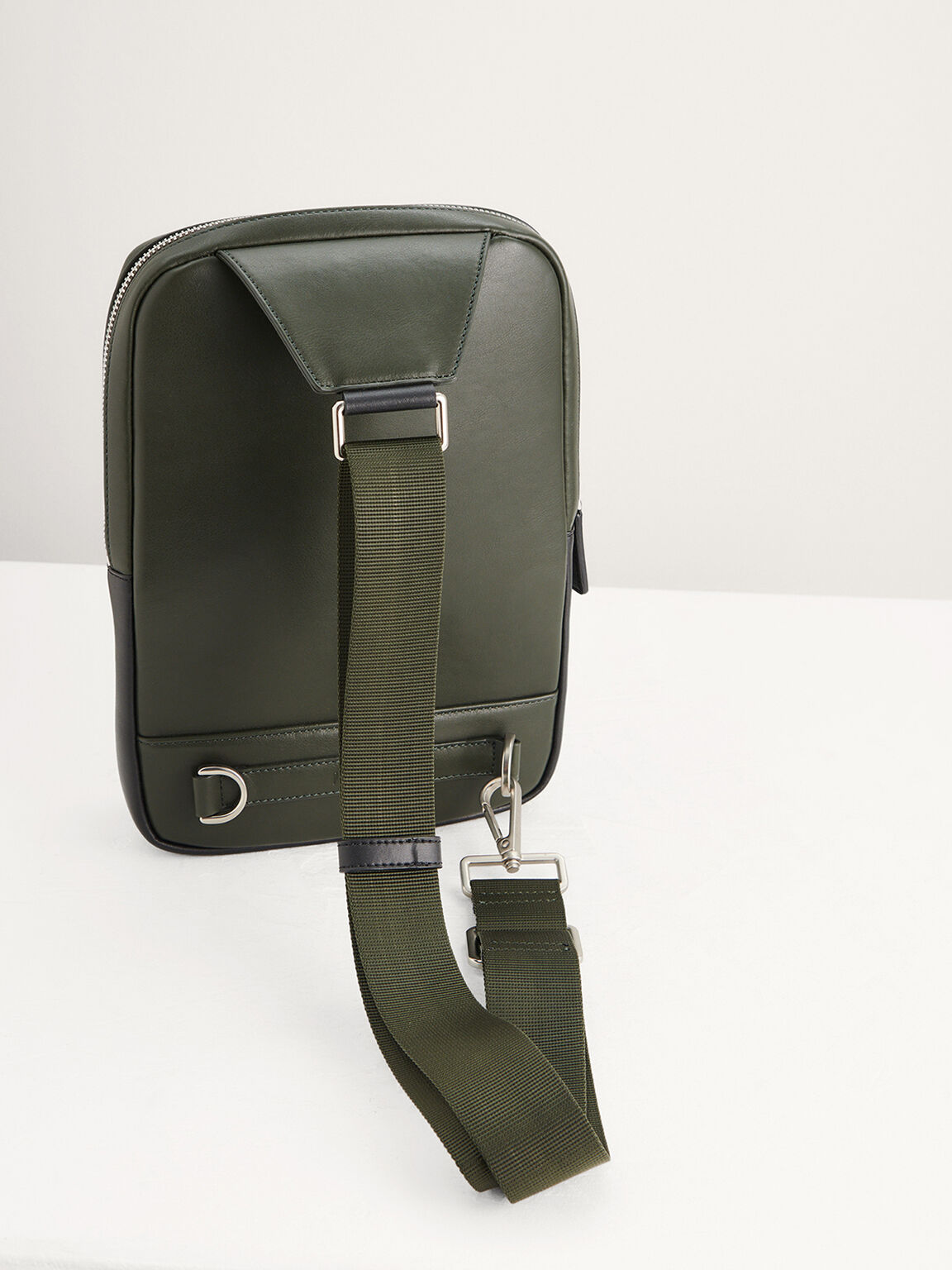 Casual Sling Pouch, Military Green, hi-res