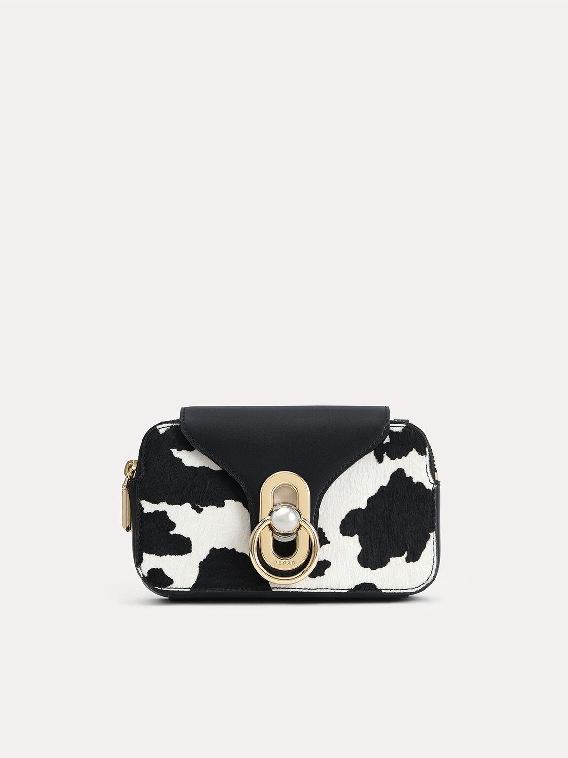 Mini Cow-Printed Leather Shoulder Bag, Multi, hi-res