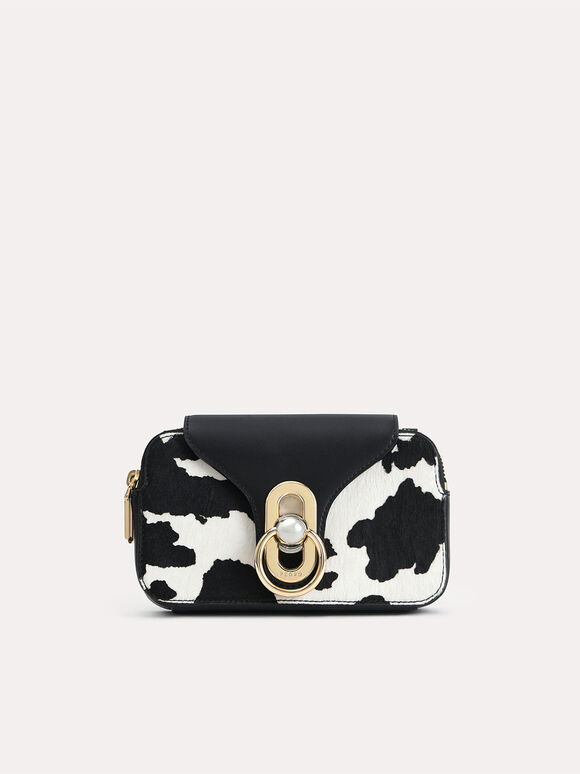 Mini Cow-Printed Leather Shoulder Bag, Multi, hi-res