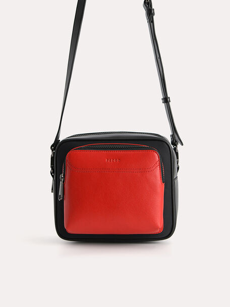 Two-Tone Sling Bag, Black, hi-res