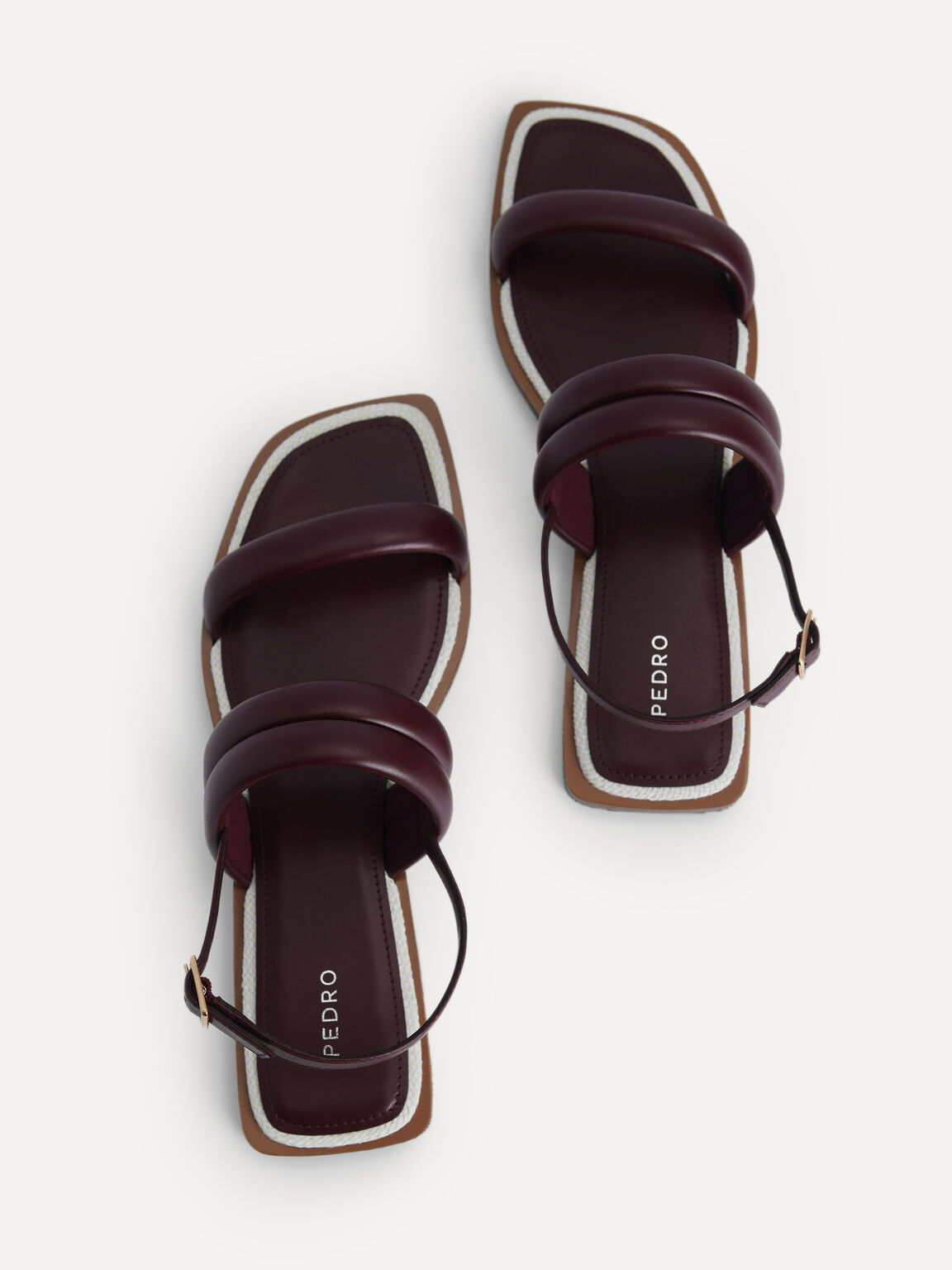 Double Strap Slingback Sandals, Mahogany, hi-res