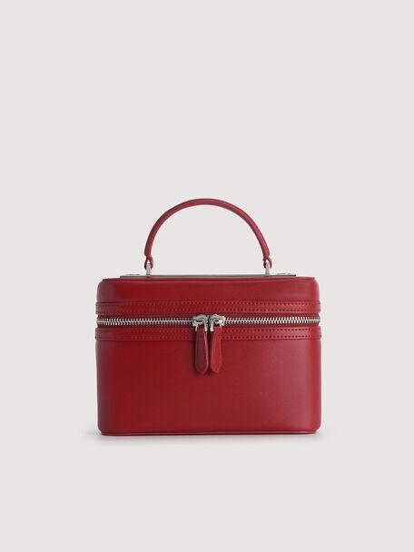 Boxy Shoulder Bag, Wine, hi-res