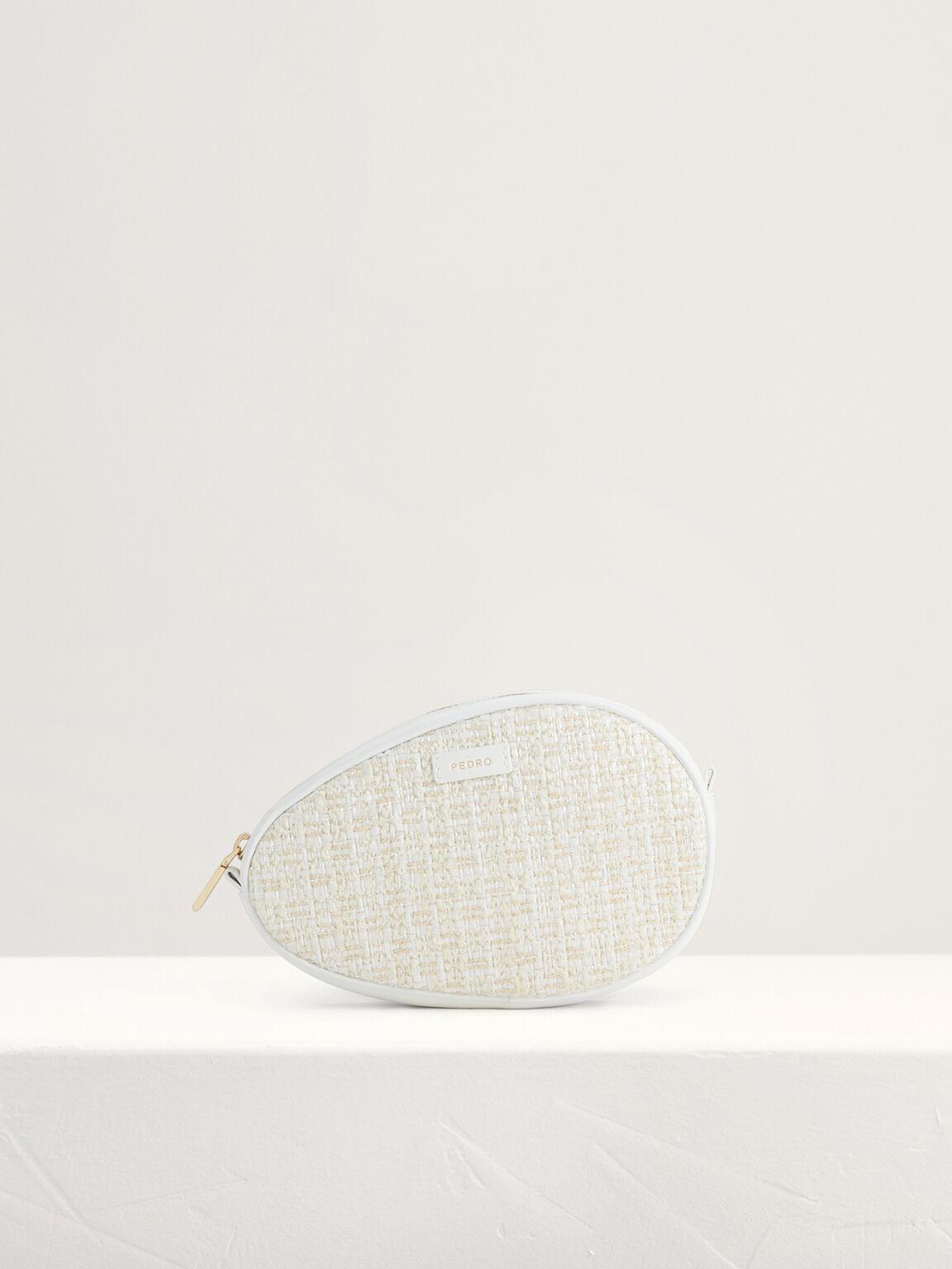 Tweed Shoulder Bag, White, hi-res