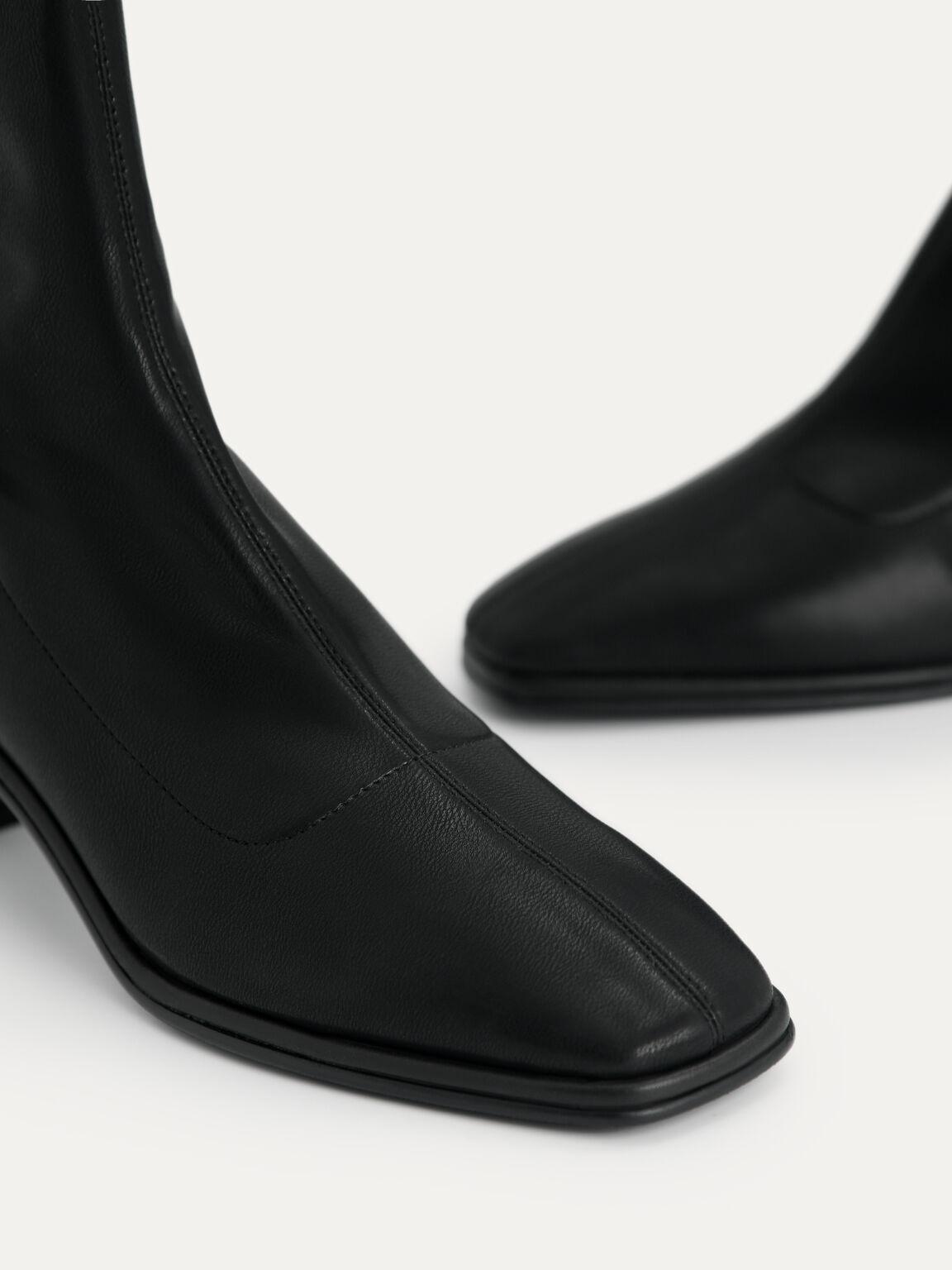 Heeled Ankle Boots, Black, hi-res