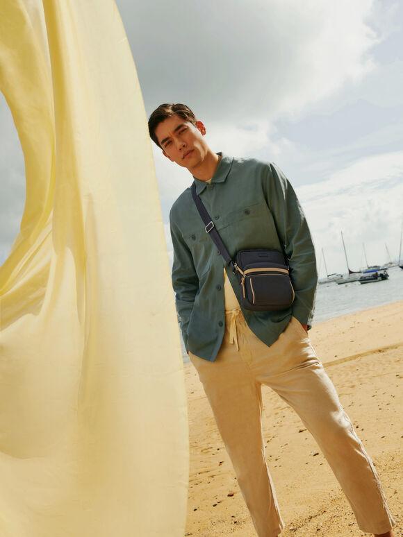 rePEDRO Casual Sling Bag, Navy, hi-res