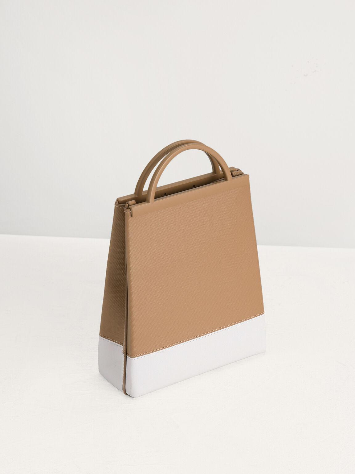 Sustainable Mini Shopper Tote, Camel, hi-res
