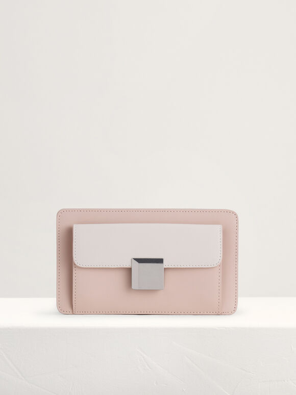 Leather Mini Shoulder Bag, Multi, hi-res