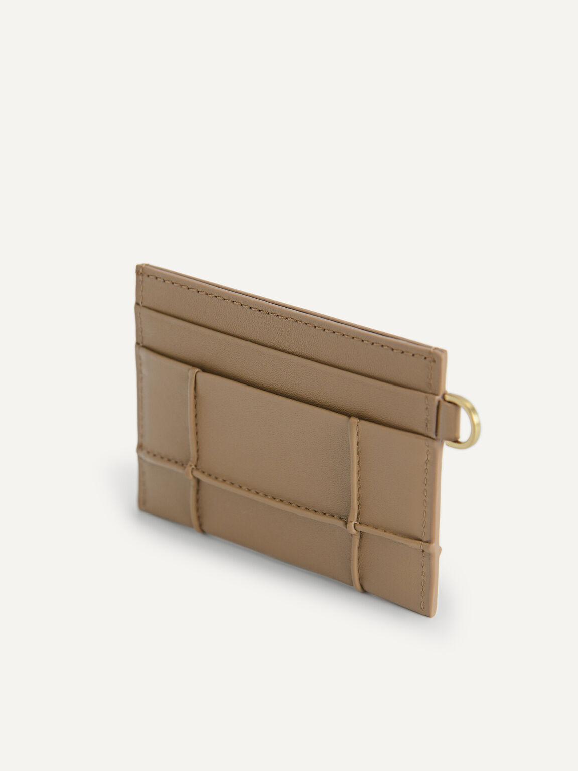 Leather Card Holder, Brown, hi-res
