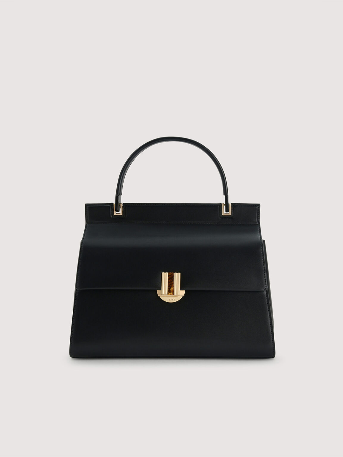 Structured Handbag, Black, hi-res