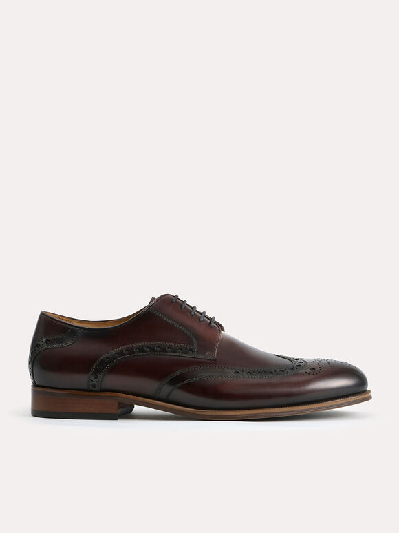 Leather Brogues, Dark Brown, hi-res