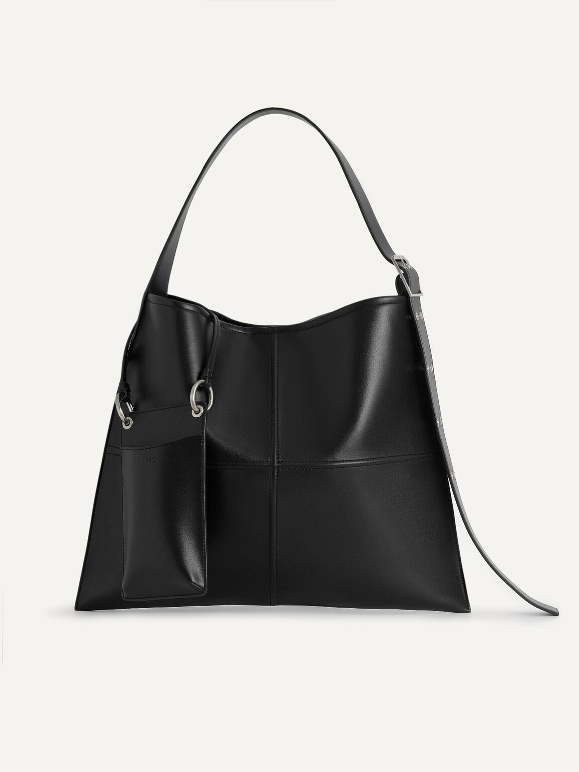 Tangram Hobo Bag, Black, hi-res