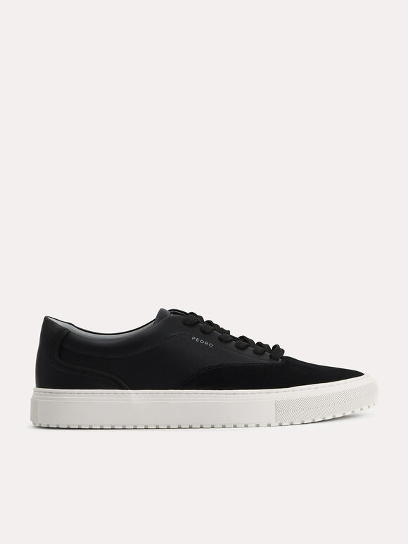 Suede Sneakers, Black, hi-res
