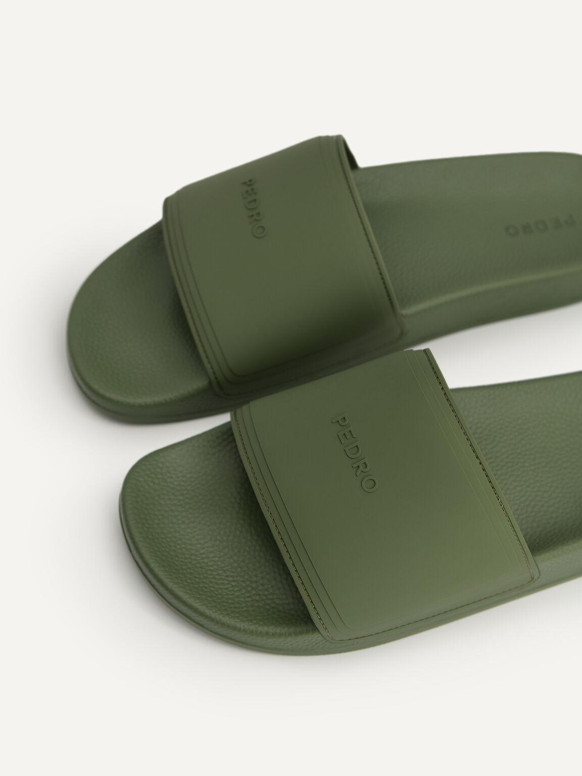 Casual Slides, Military Green, hi-res