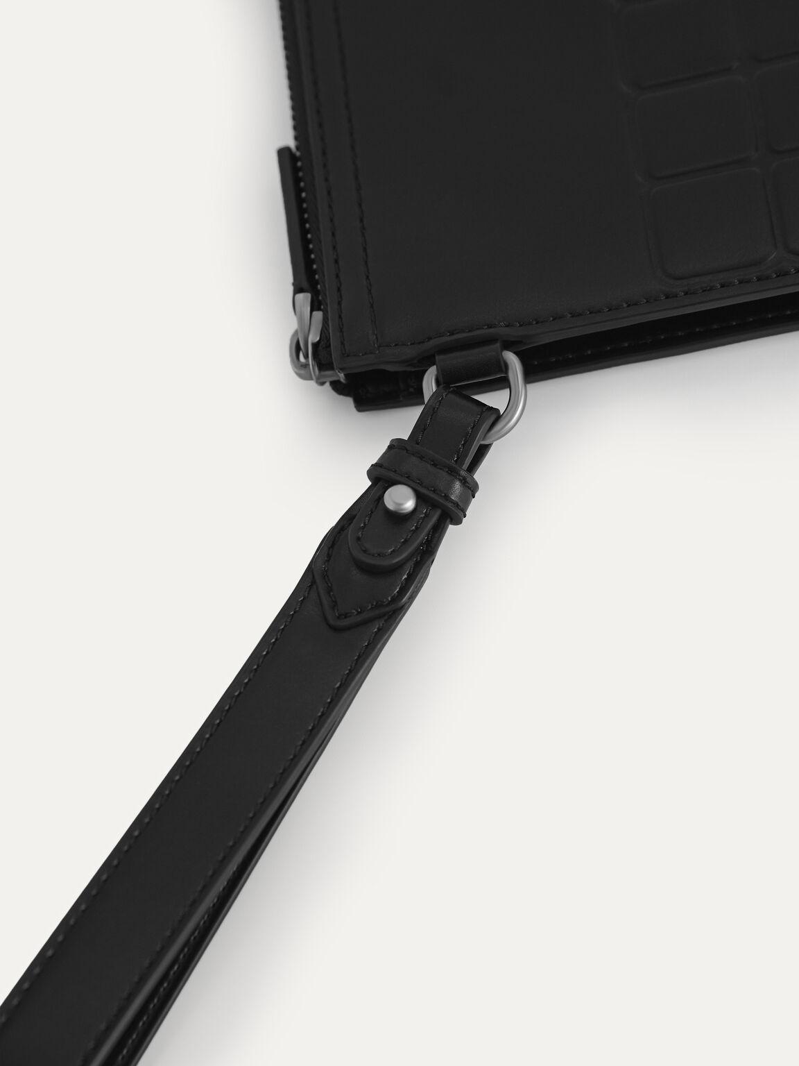 休閒手拿包, 黑色, hi-res