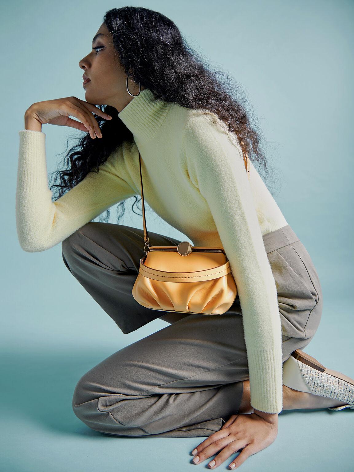 Pillow Top Handle Bag, Yellow, hi-res