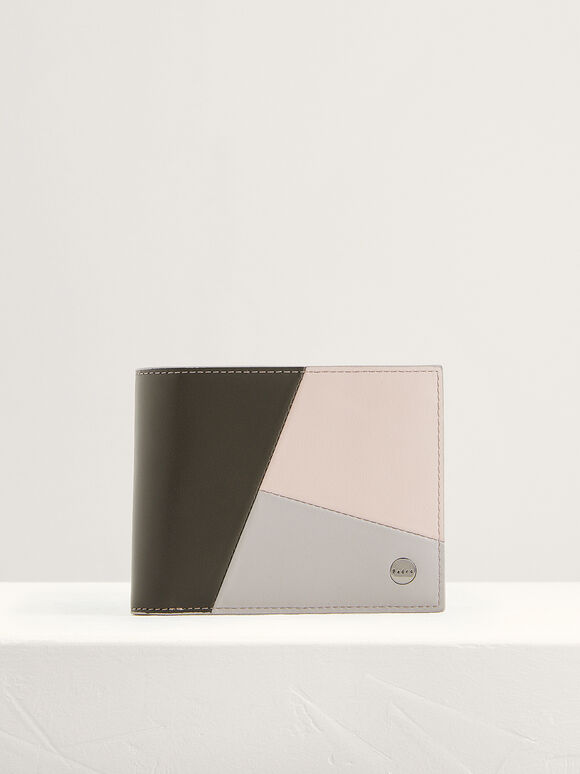 Colorblock Leather Wallet with Insert, Multi2, hi-res