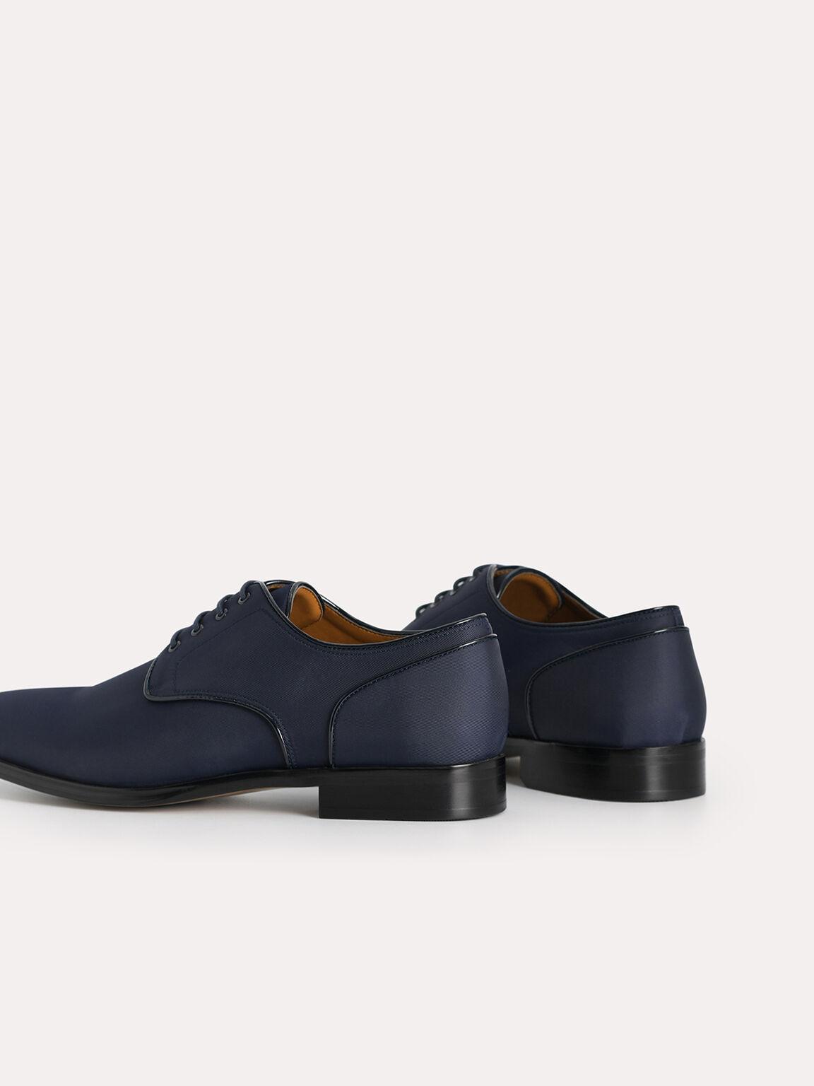 Nylon Derby Shoes, Navy, hi-res