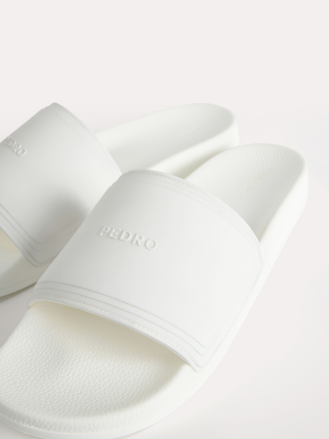 Casual Slides, White, hi-res