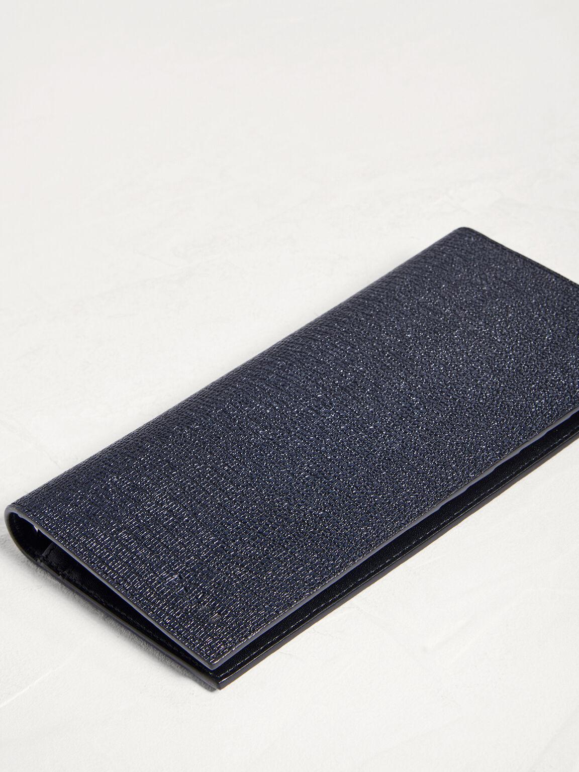 Leather Long Wallet, Black, hi-res