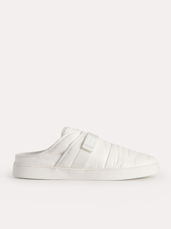 Padded Slip On Sneakers, White, hi-res