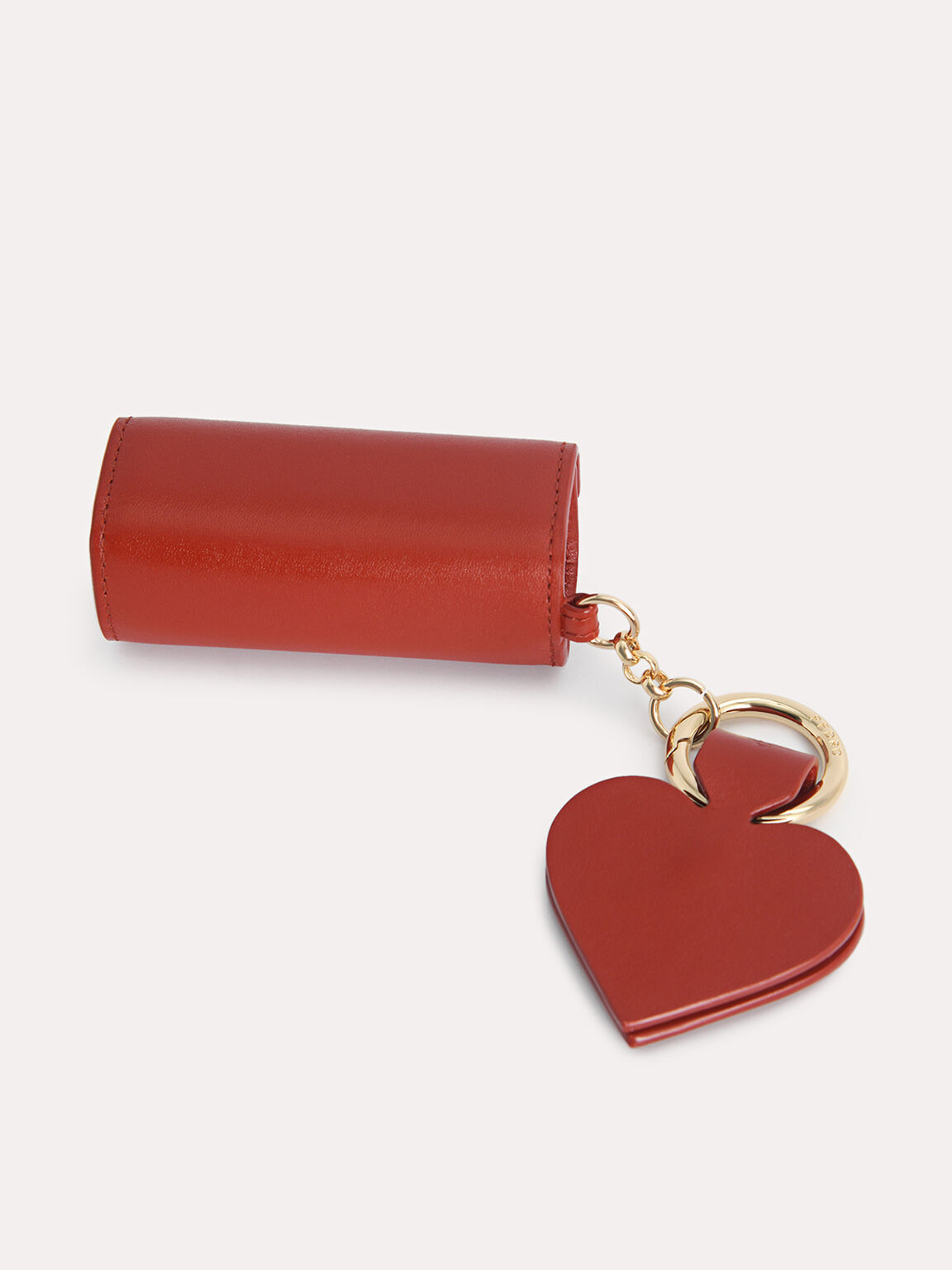 Mini Leather Pouch, Red, hi-res