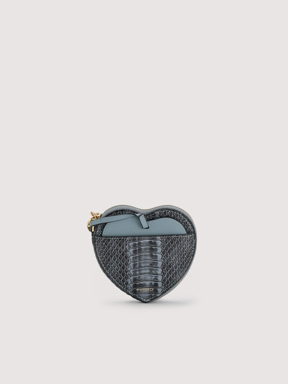 Snake-Effect Heart Coinpouch, Slate Blue, hi-res