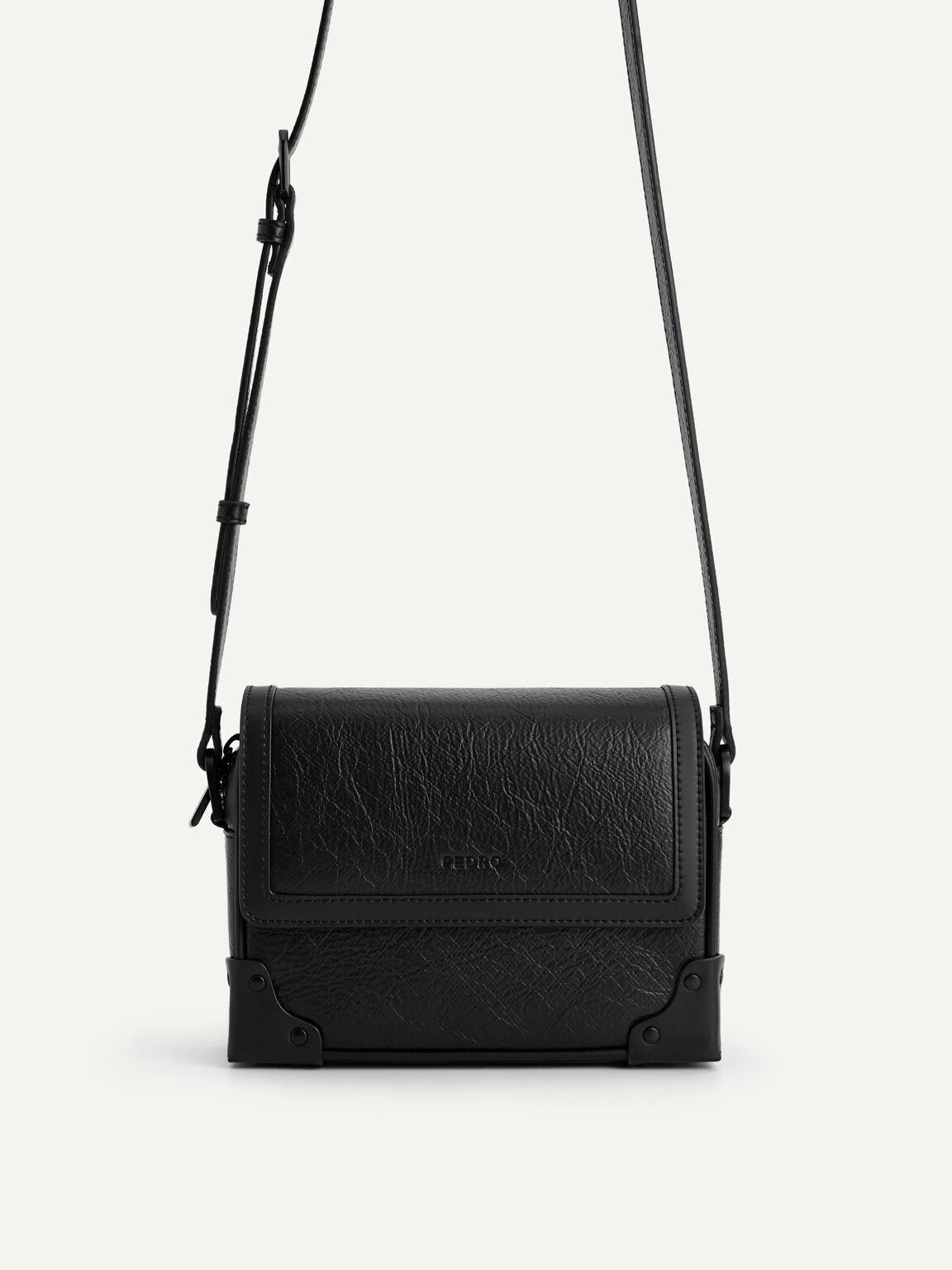 Boxy Sling Bag, Black, hi-res