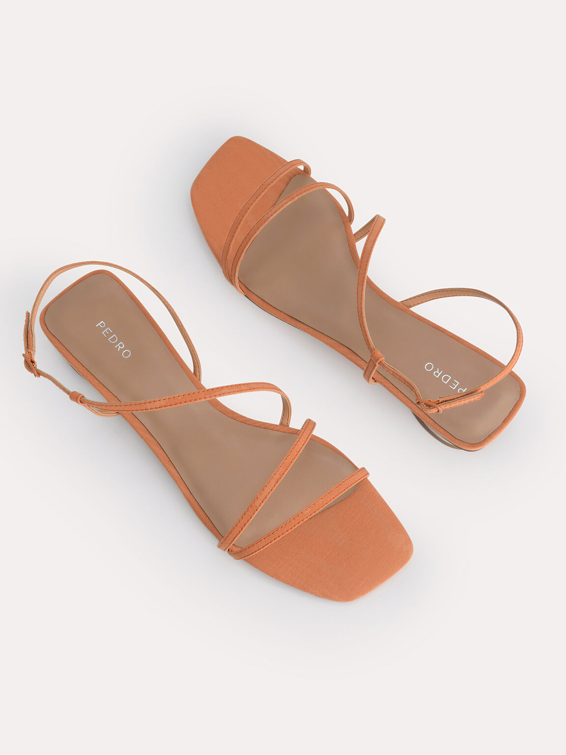 Wraparound Strappy Flats, Orange, hi-res