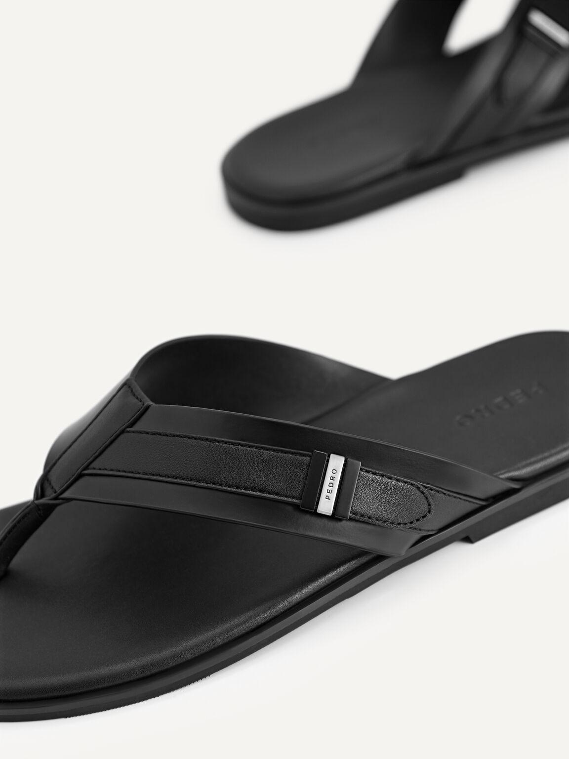 Thong Sandals, Black, hi-res